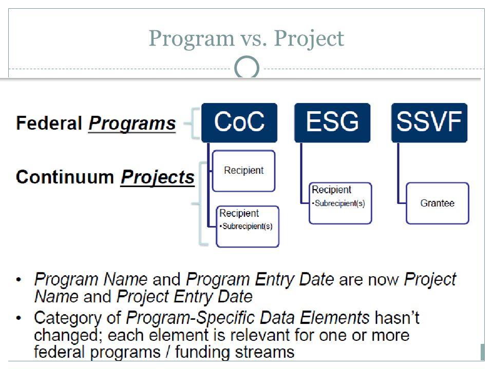 Program vs. Project