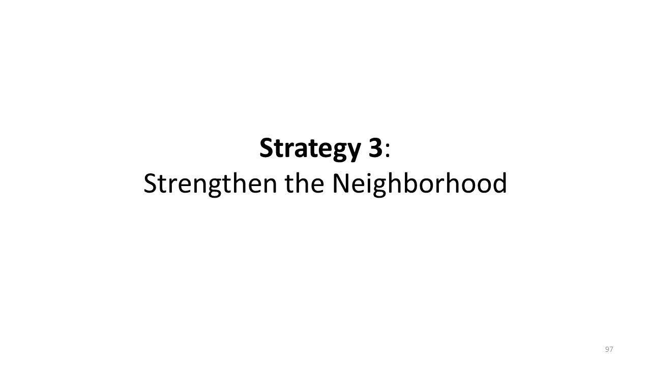 Strategy 3: Strengthen the Neighborhood 97