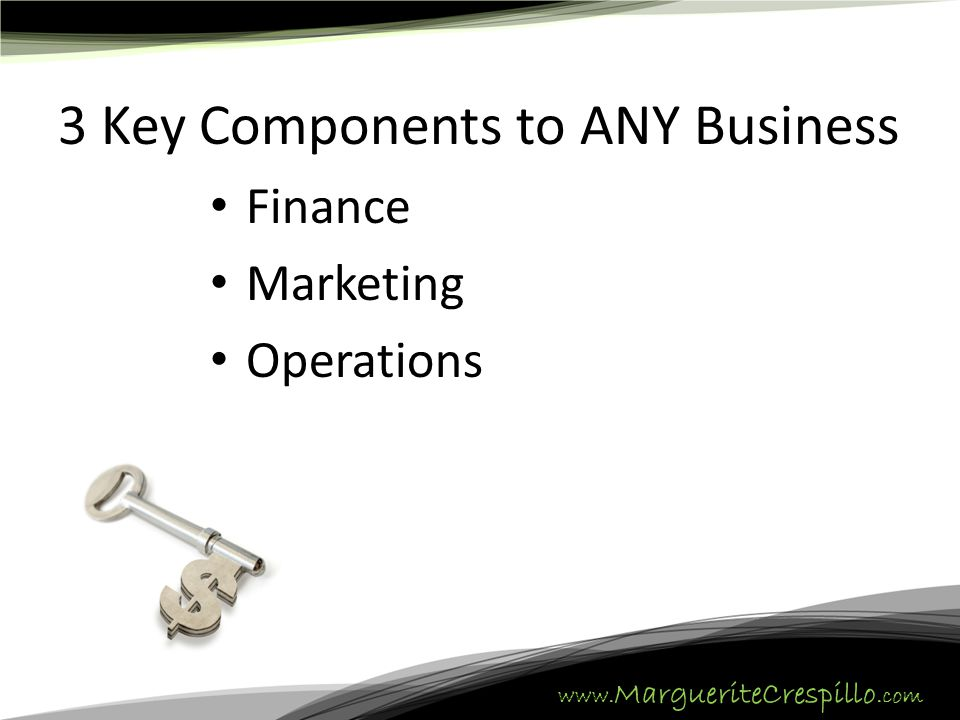 3 Key Components to ANY Business Finance Marketing Operations