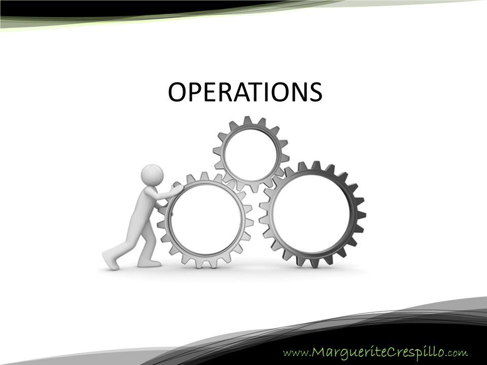 www. MargueriteCrespillo.com OPERATIONS