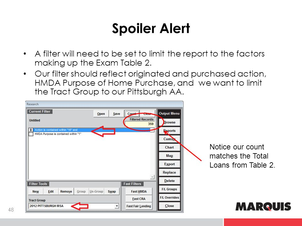 Spoiler Alert A filter will need to be set to limit the report to the factors making up the Exam Table 2.