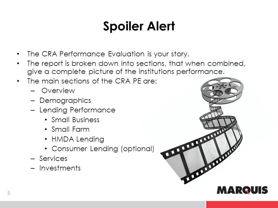 Spoiler Alert 6 Demographic Reports 1 CRA Officer 3A - Right Performance Evaluation
