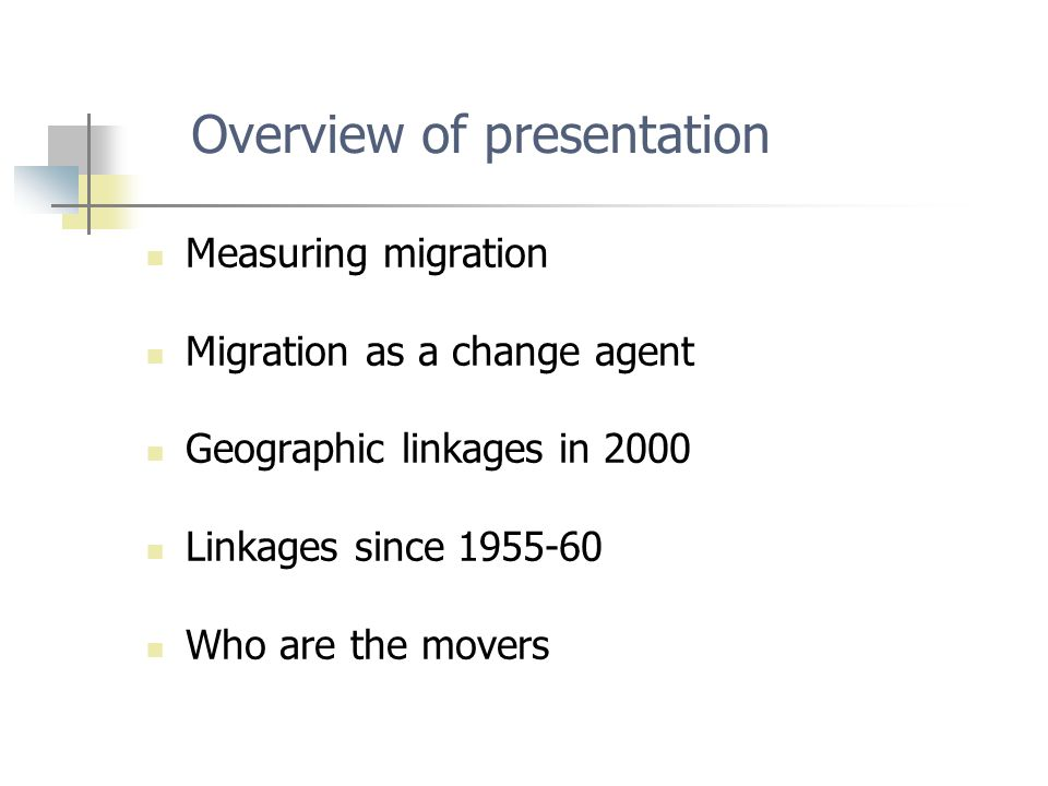 Sources of migration flow data Administrative records, e.g.