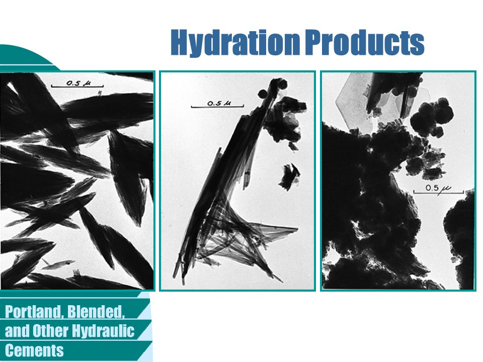 Portland, Blended, and Other Hydraulic Cements Hydration Products