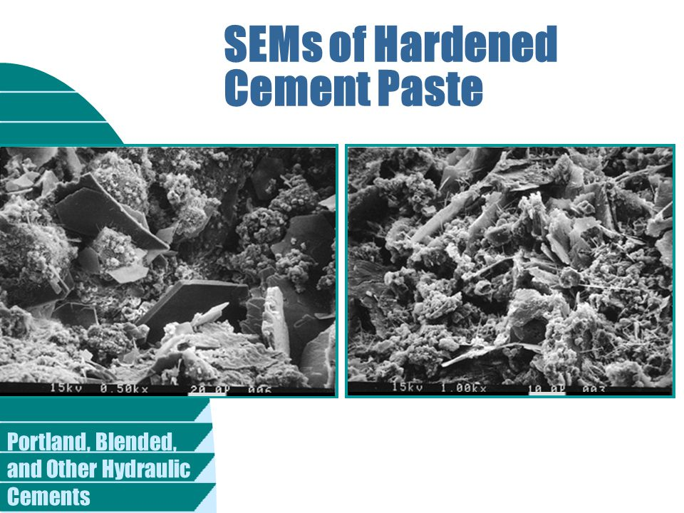 Portland, Blended, and Other Hydraulic Cements SEMs of Hardened Cement Paste