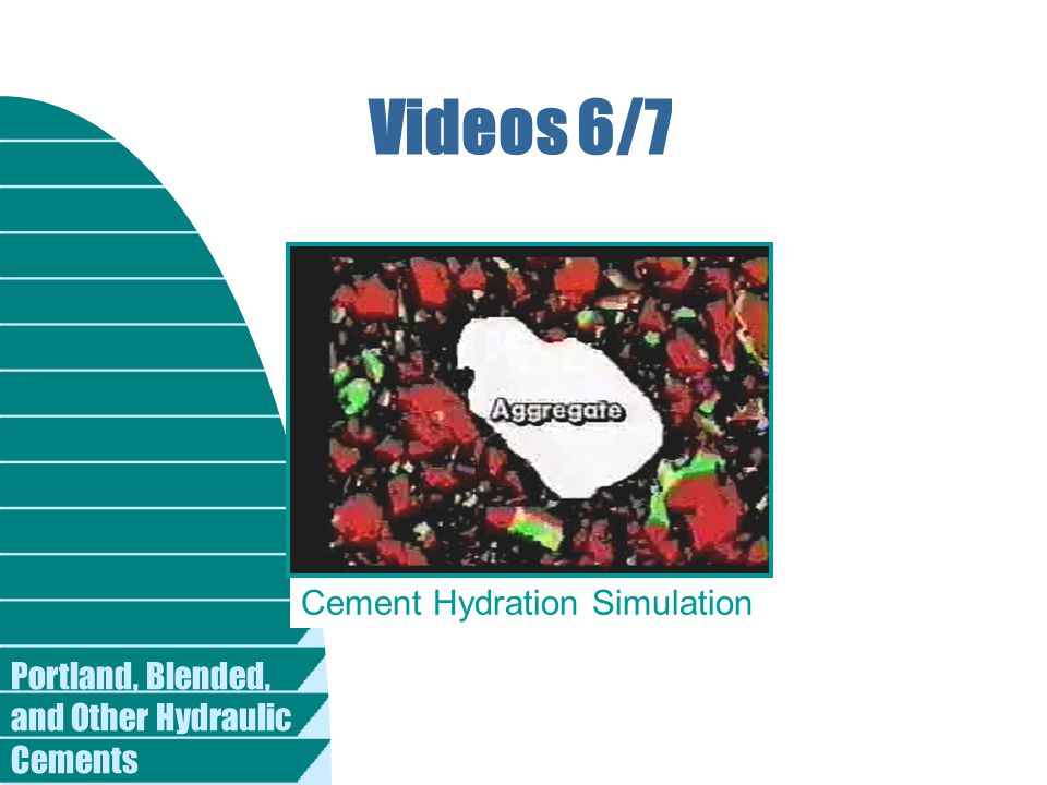 Portland, Blended, and Other Hydraulic Cements Videos 6/7 Cement Hydration Simulation