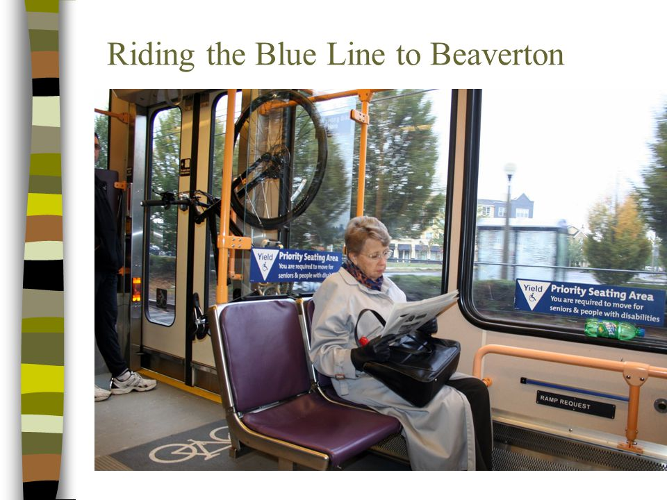 Riding the Blue Line to Beaverton