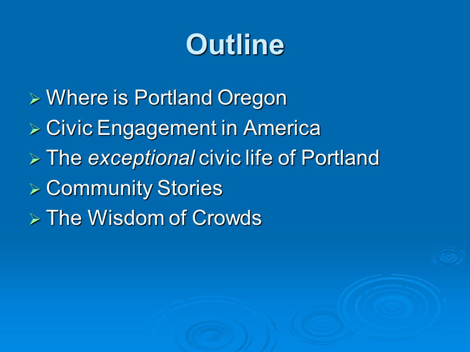 Civic engagement and Trust  A society characterized by generalized reciprocity is more efficient than a distrustful society  Frequent interaction among a diverse set of people tends to produce a norm of generalized reciprocity.