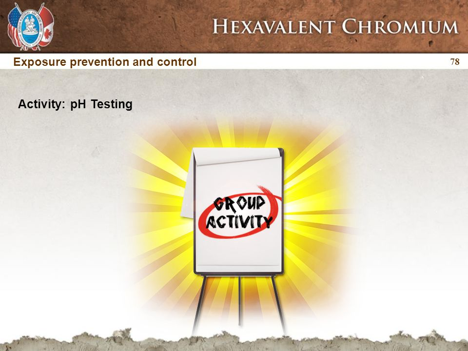 78 Activity: pH Testing Exposure prevention and control