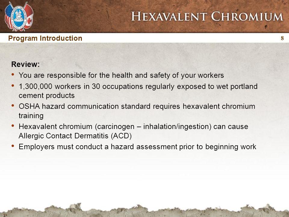 29 Hexavalent chromium exposure