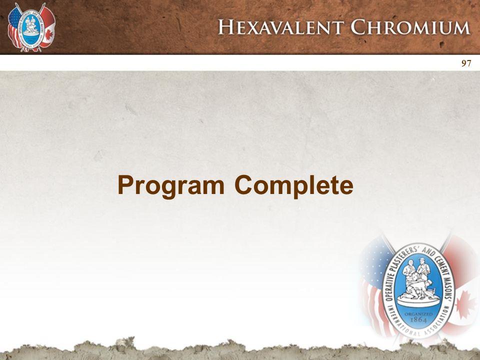 Program Complete 97