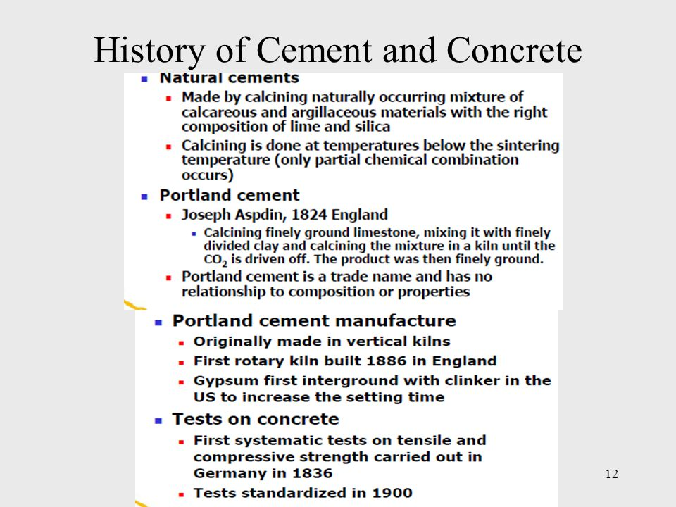 History of Cement and Concrete 12