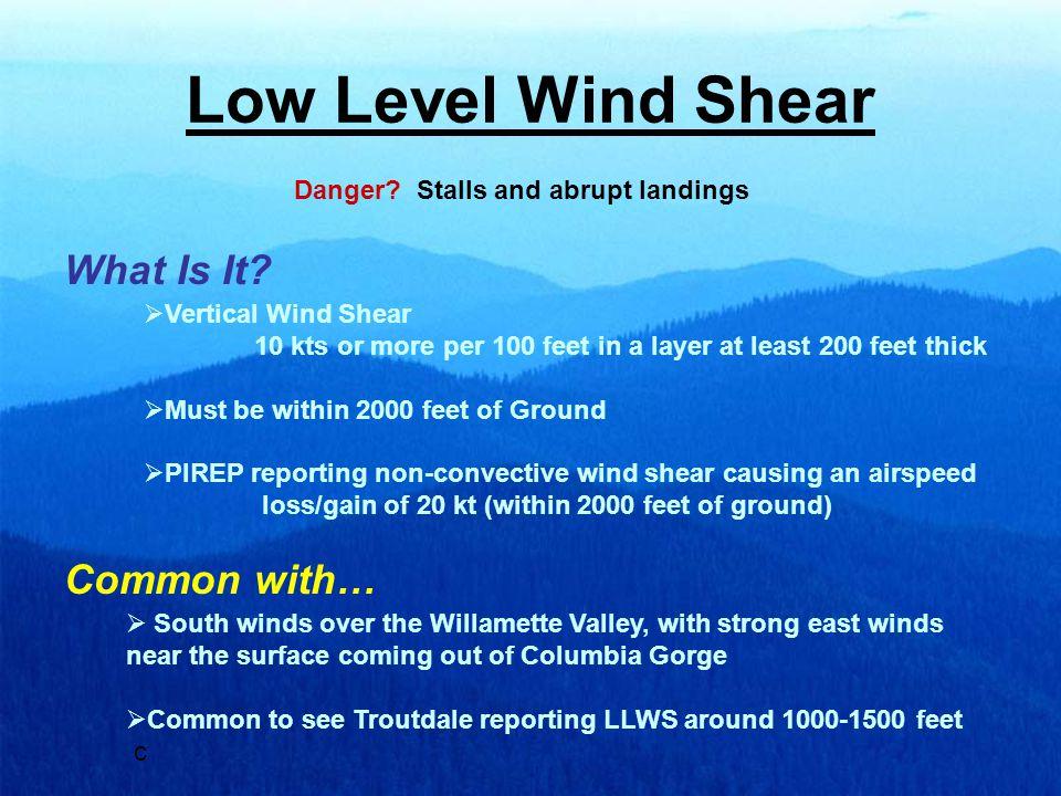 Low Level Wind Shear Danger.