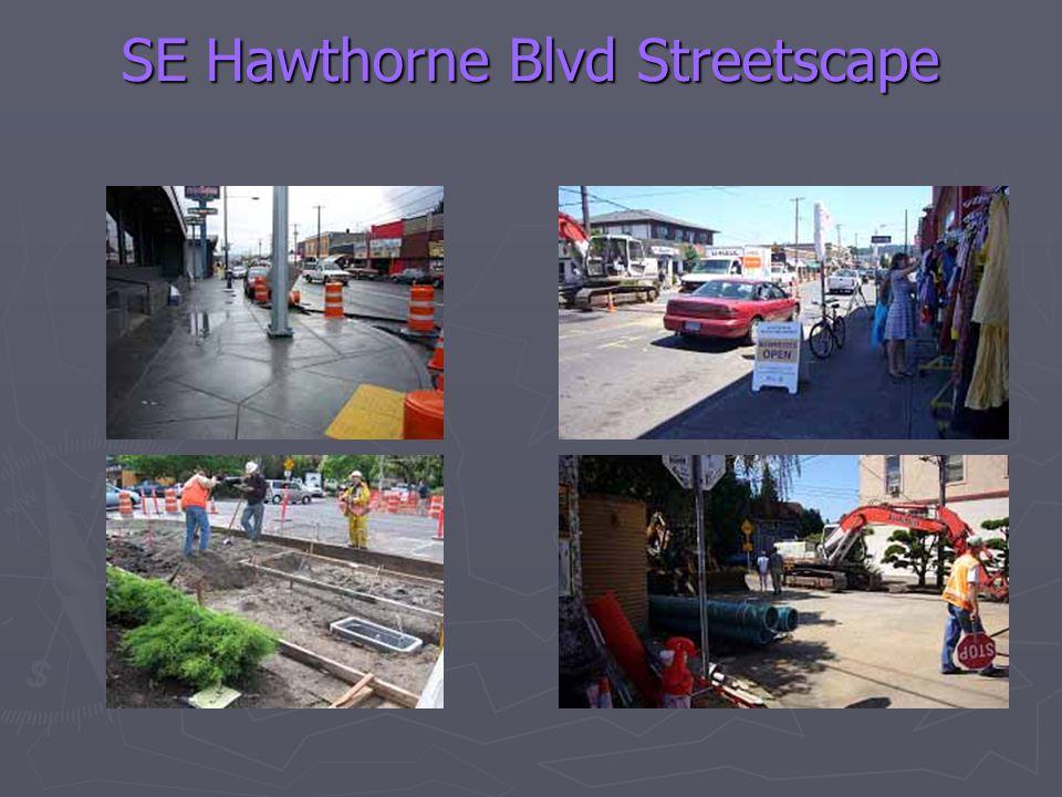 SE Hawthorne Blvd Streetscape