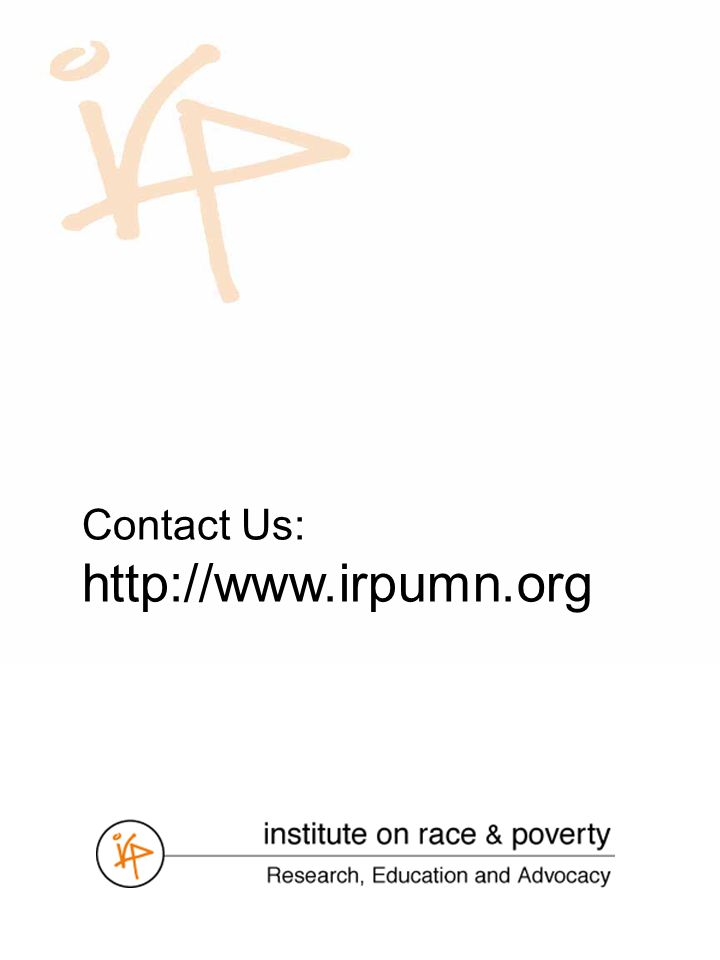 Contact Us: http://www.irpumn.org