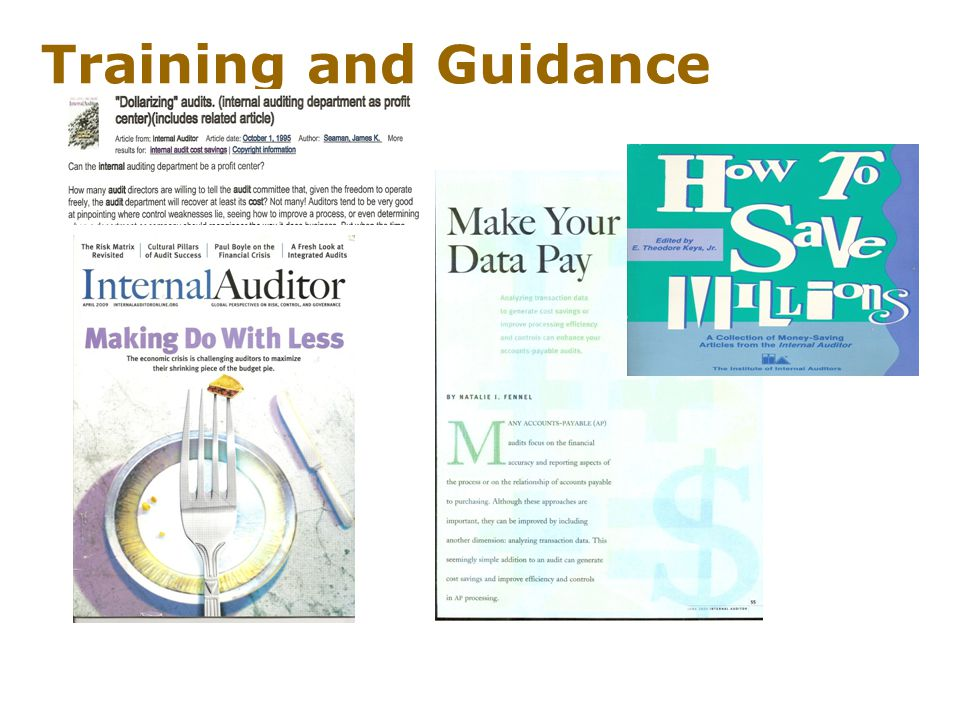Training and Guidance