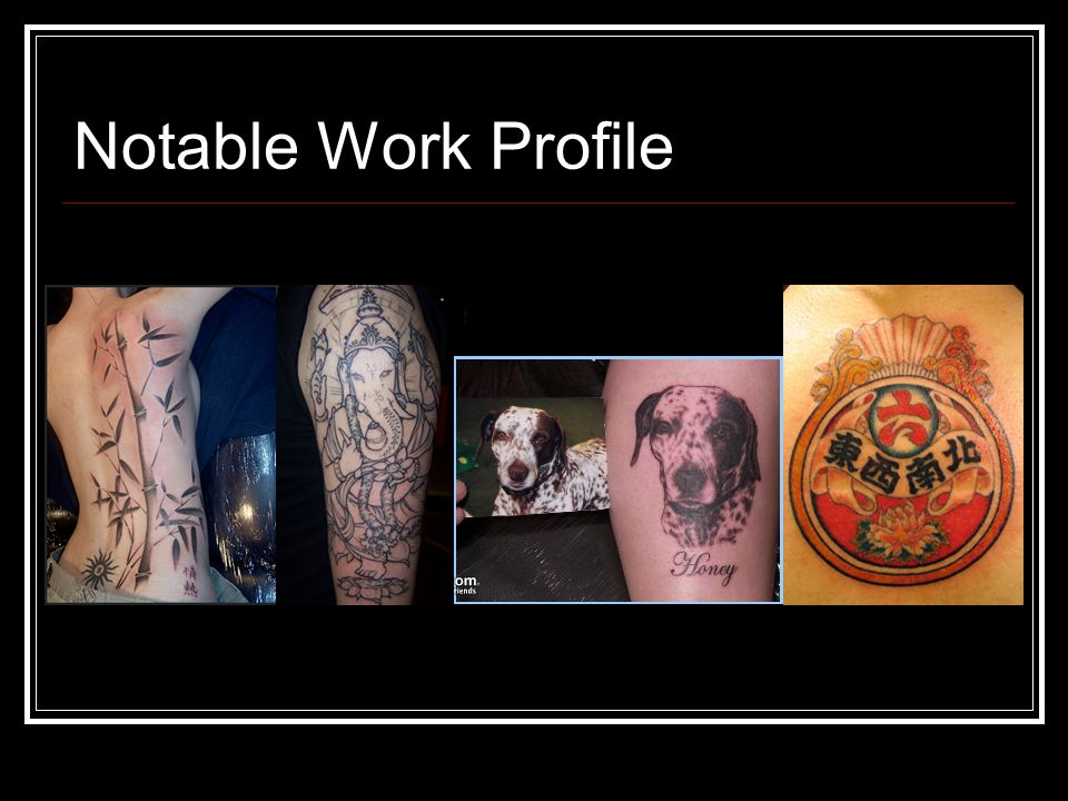 Notable Work Profile