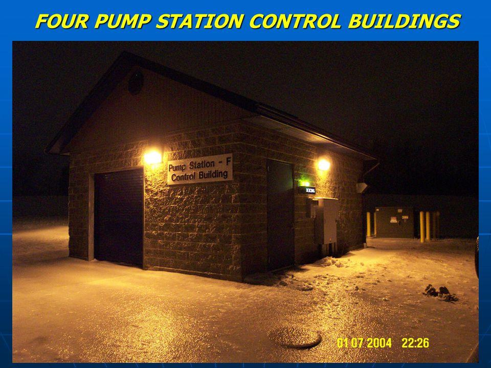 FOUR PUMP STATION CONTROL BUILDINGS