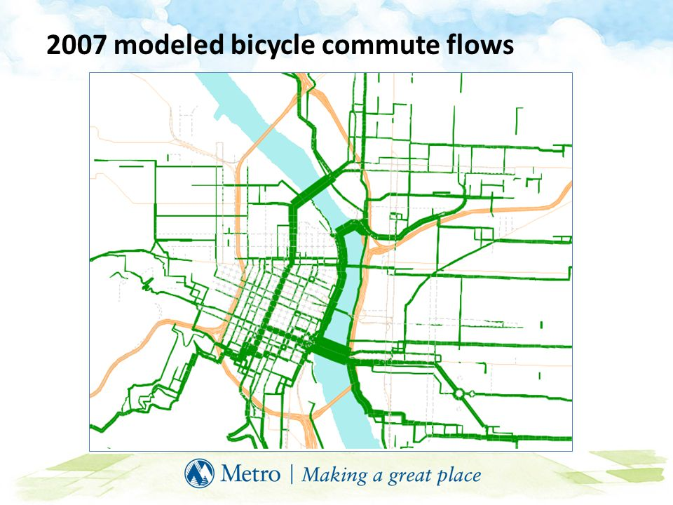 2007 modeled bicycle commute flows