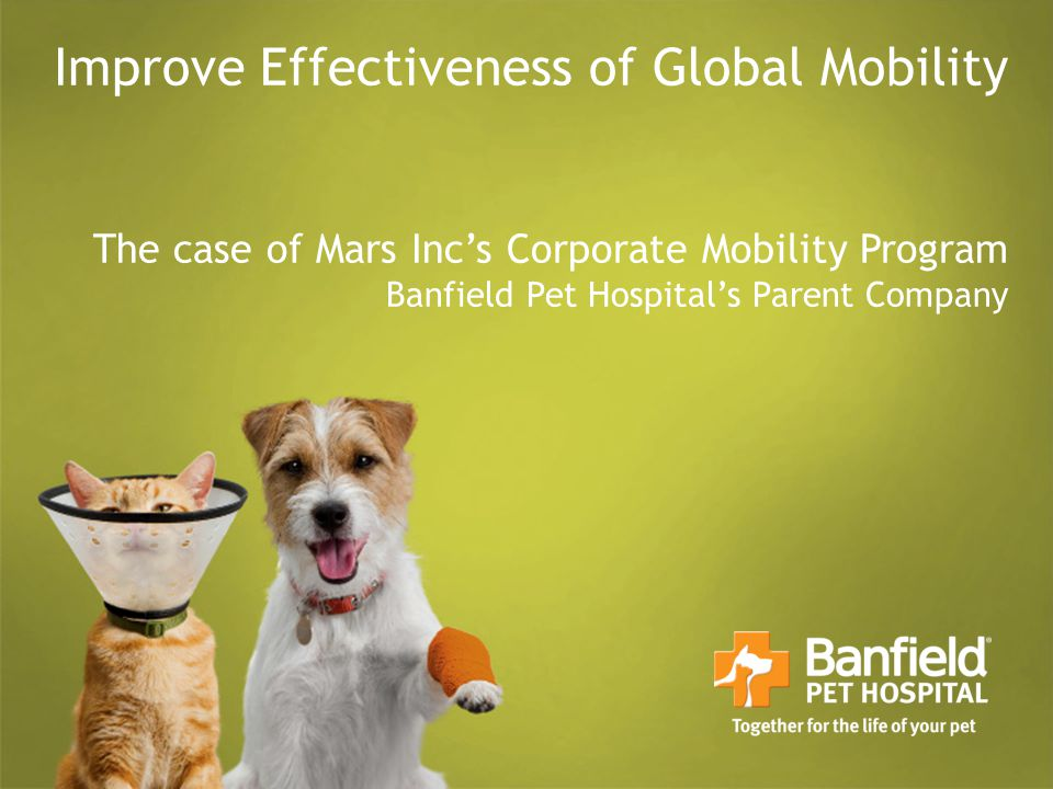 Improve Effectiveness of Global Mobility The case of Mars Inc's Corporate Mobility Program Banfield Pet Hospital's Parent Company