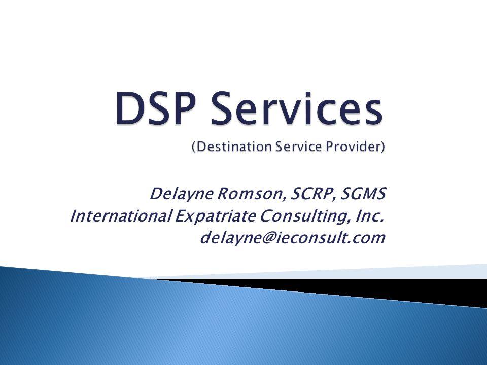 Delayne Romson, SCRP, SGMS International Expatriate Consulting, Inc. delayne@ieconsult.com