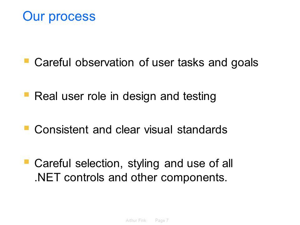 Arthur Fink Page 8 Designing user interfaces that work