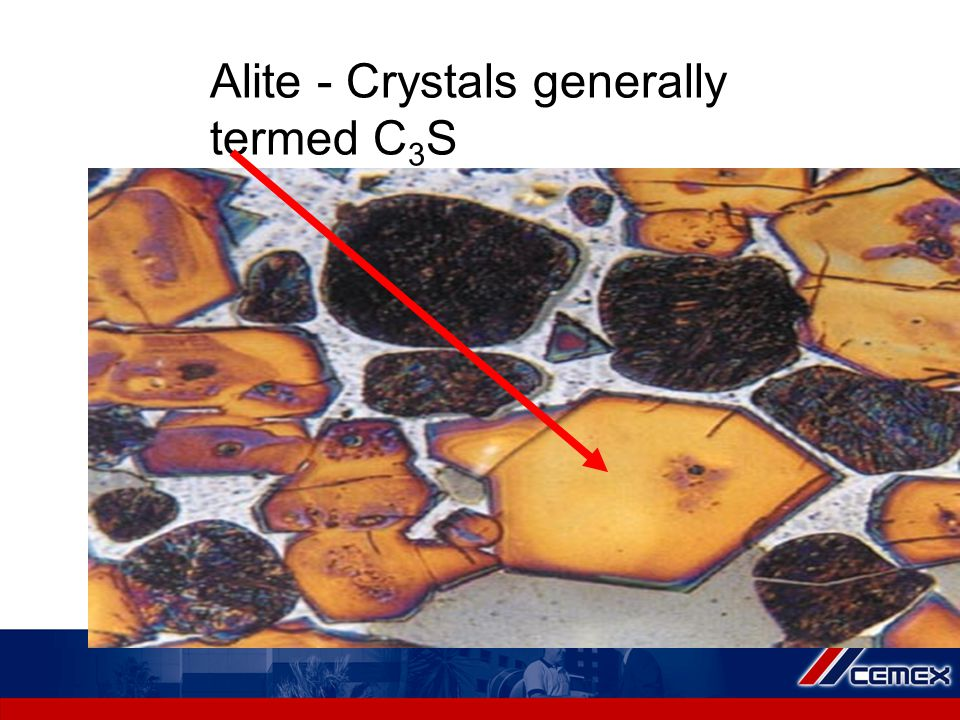 Alite - Crystals generally termed C 3 S