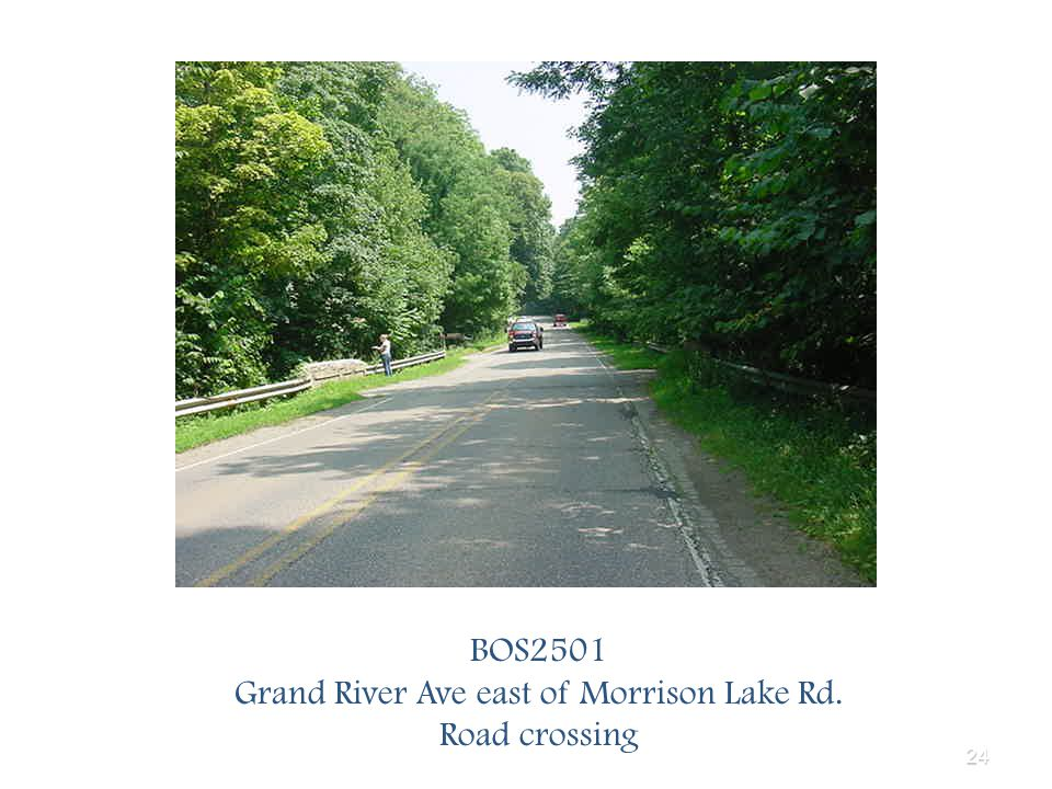 24 BOS2501 Grand River Ave east of Morrison Lake Rd. Road crossing