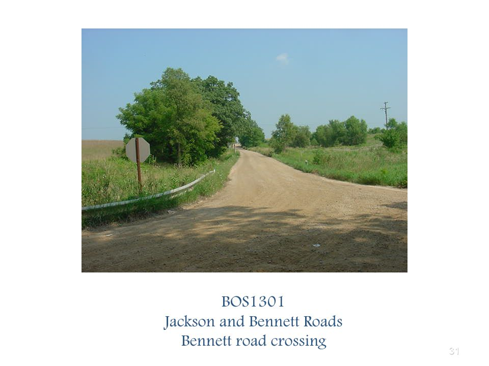 31 BOS1301 Jackson and Bennett Roads Bennett road crossing