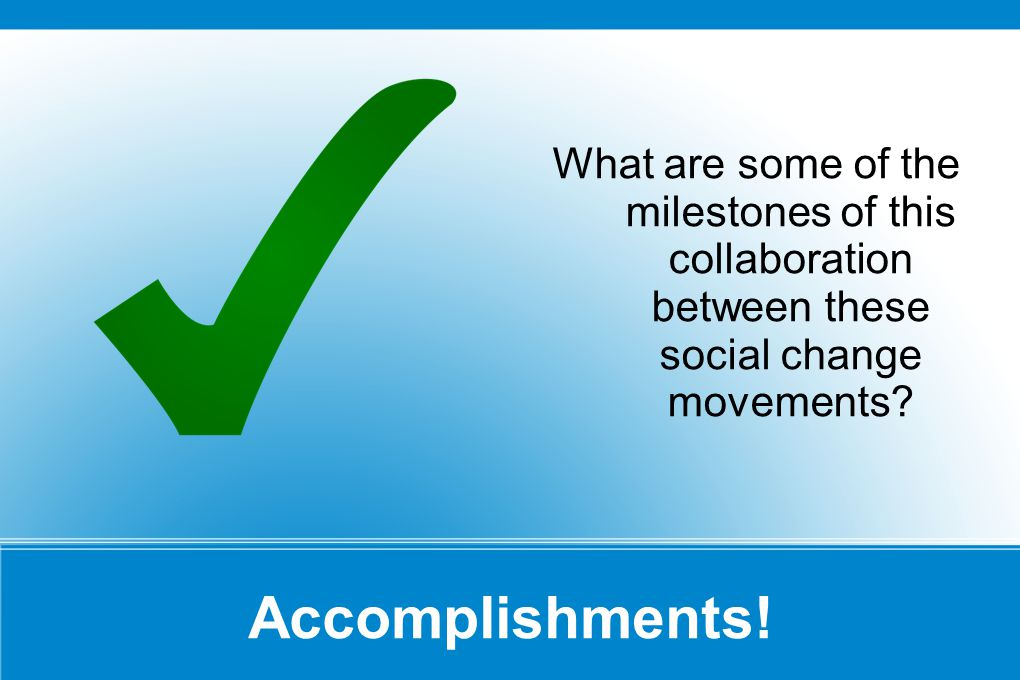 Accomplishments.