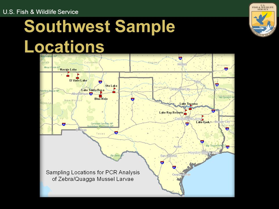 U.S. Fish & Wildlife Service Southwest Sample Locations
