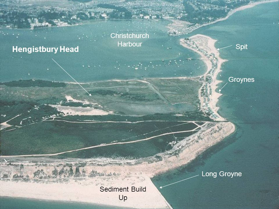 Hengistbury Head Long Groyne Spit Christchurch Harbour Groynes Sediment Build Up