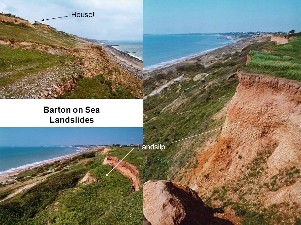 Barton on Sea Landslides House! Landslip