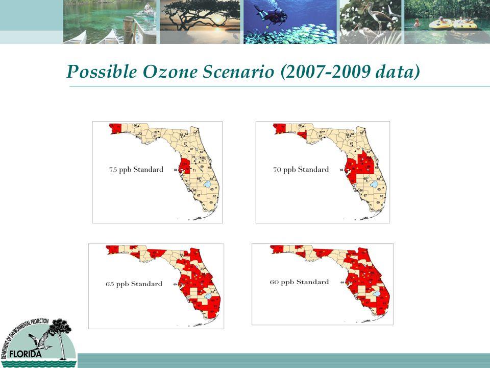 Possible Ozone Scenario (2007-2009 data)