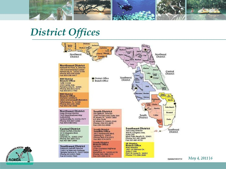 District Offices May 4, 2011|6
