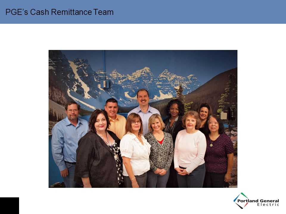 PGE's Cash Remittance Team