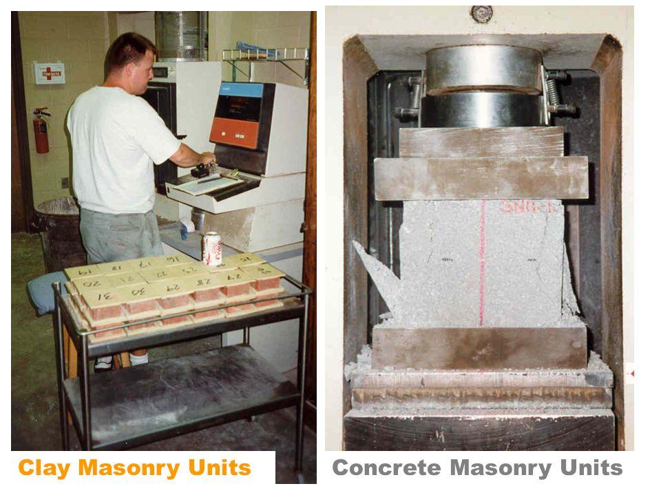Clay Masonry UnitsConcrete Masonry Units
