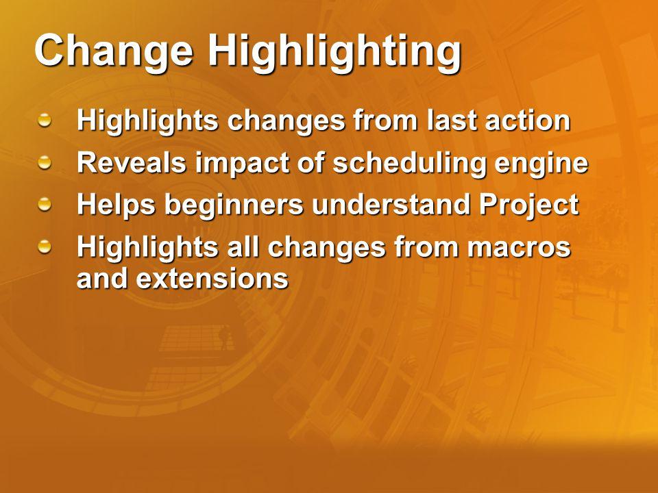 Change Highlighting Before