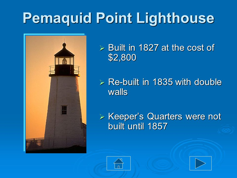 "Tour Maine Portland Bangor Augusta Pemaquid Point Lighthouse Cape Neddick ""Nubble"" Lighthouse West Quoddy Head Lighthouse Click on a lighthouse below"