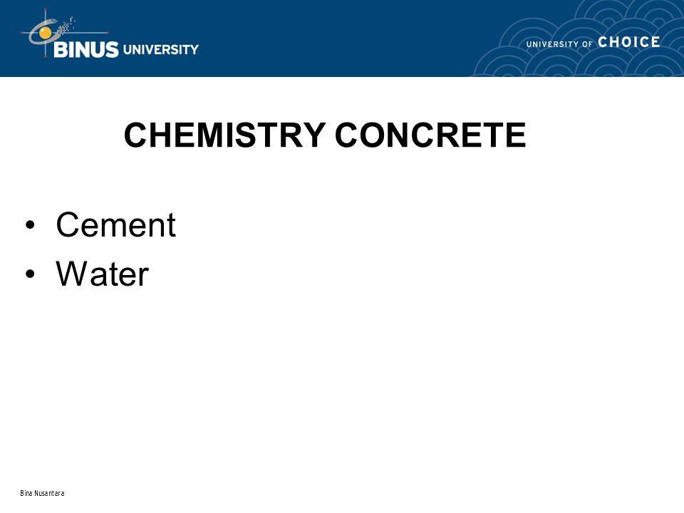 Bina Nusantara CHEMISTRY CONCRETE Cement Water