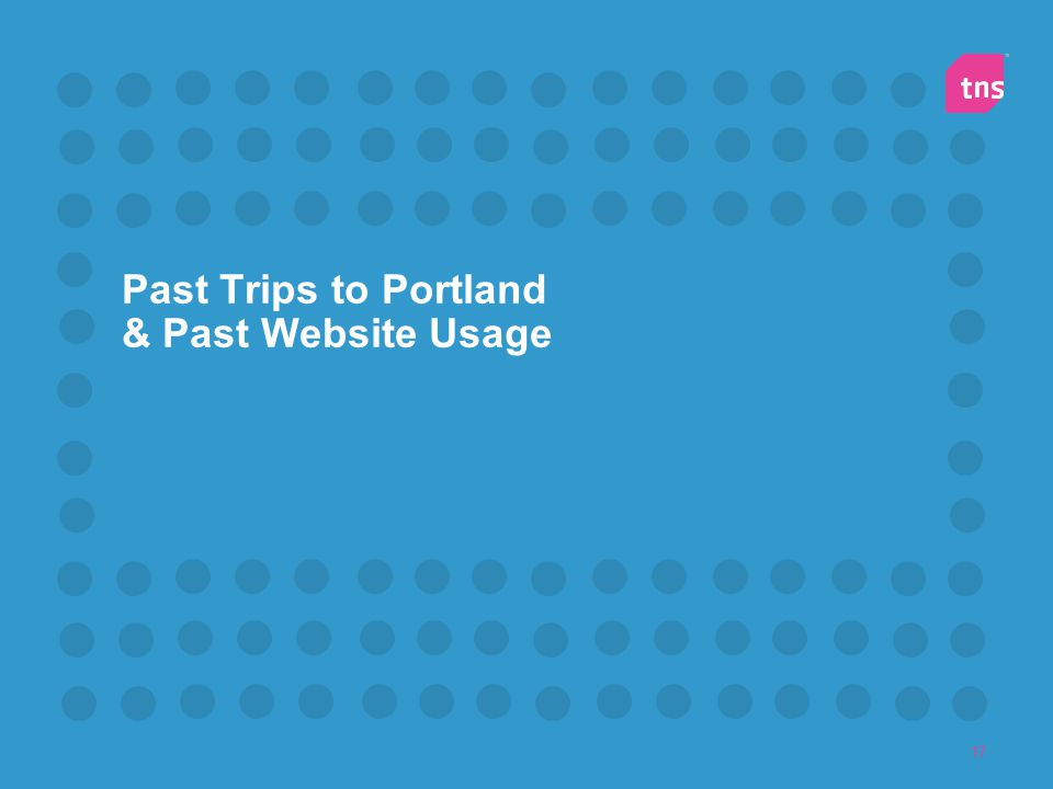 17 Past Trips to Portland & Past Website Usage