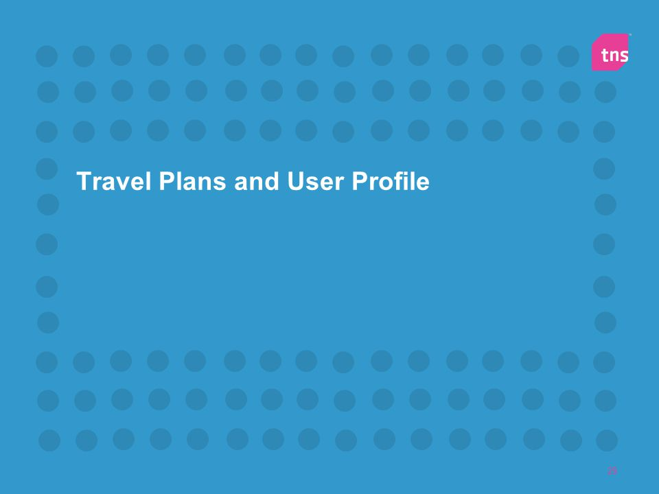 29 Travel Plans and User Profile