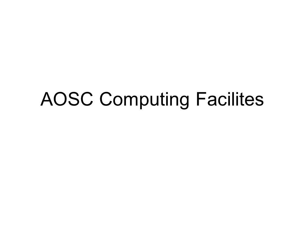 AOSC Computing Facilites