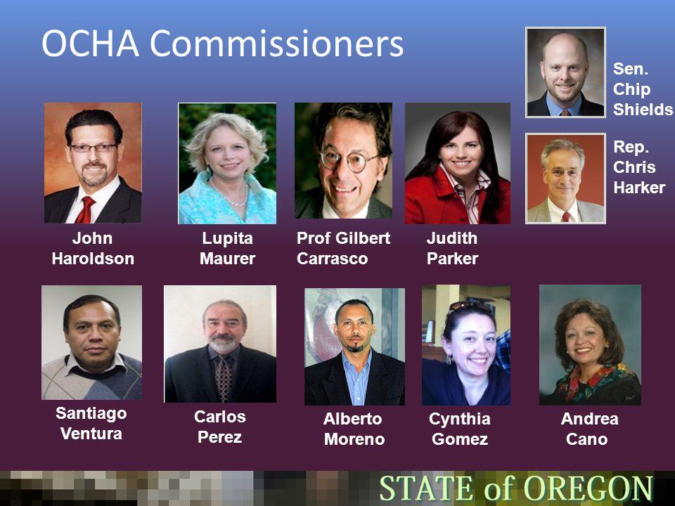 OCHA Commissioners John Haroldson Lupita Maurer Prof Gilbert Carrasco Andrea Cano Judith Parker Carlos Perez Alberto Moreno Sen.
