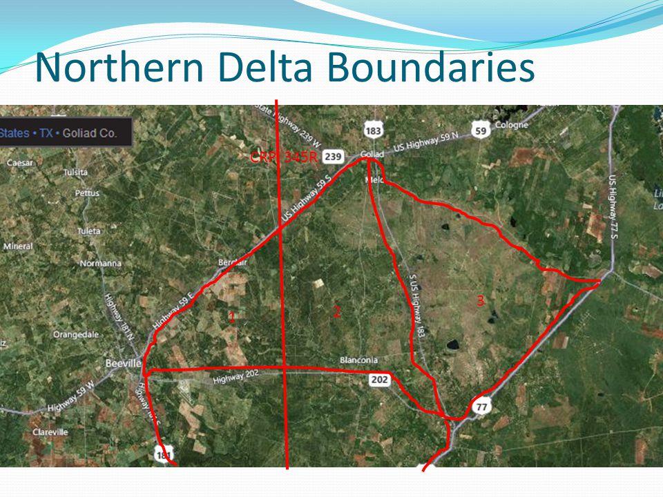 Northern Delta Boundaries 1 2 3 CRP 345R