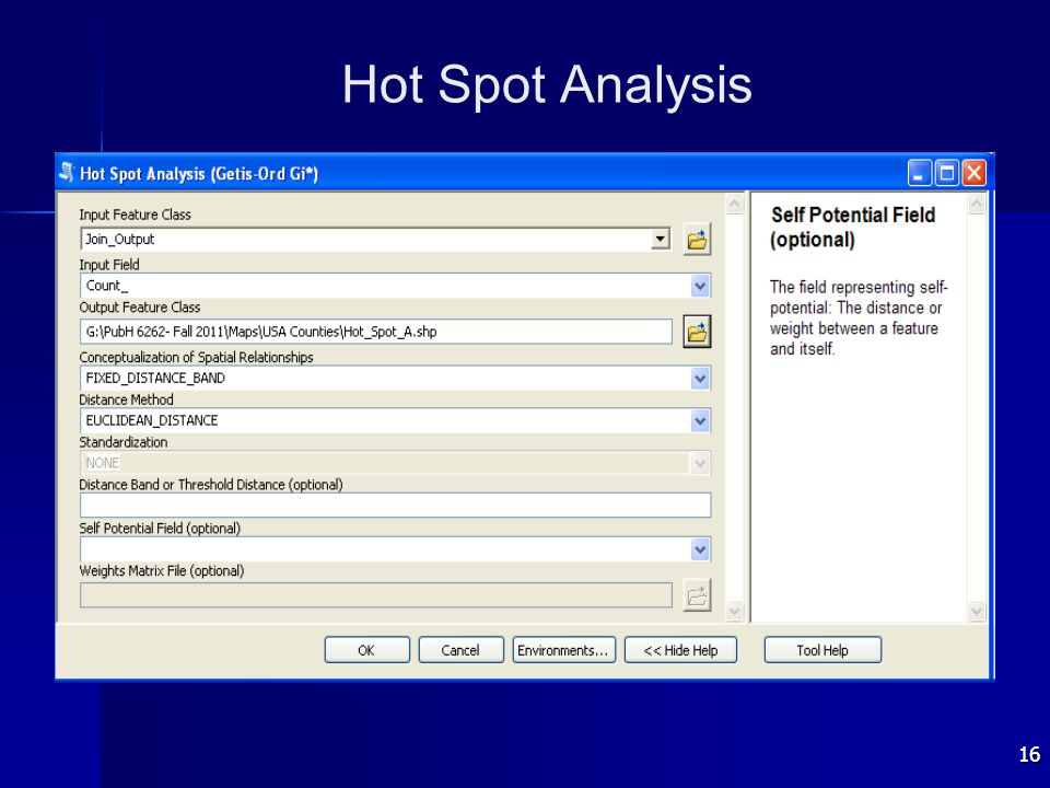 16 Hot Spot Analysis