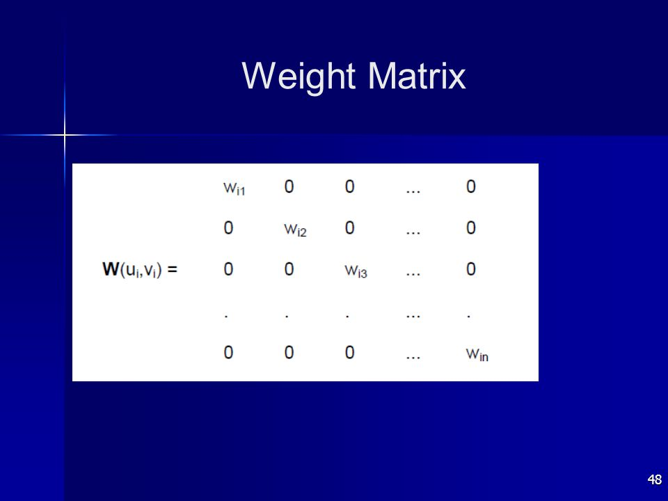 48 Weight Matrix
