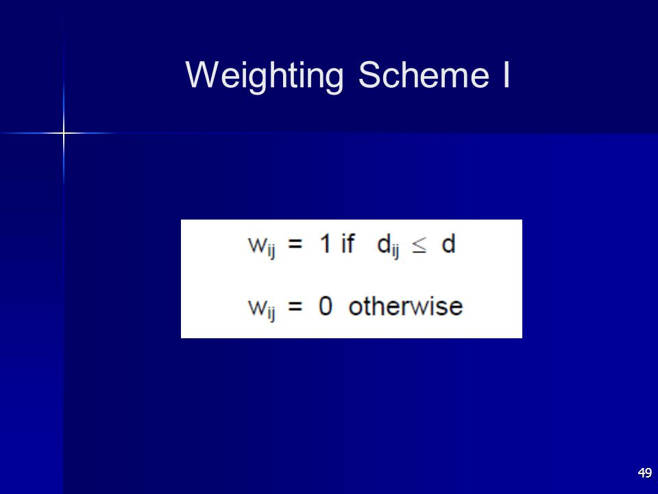 49 Weighting Scheme I