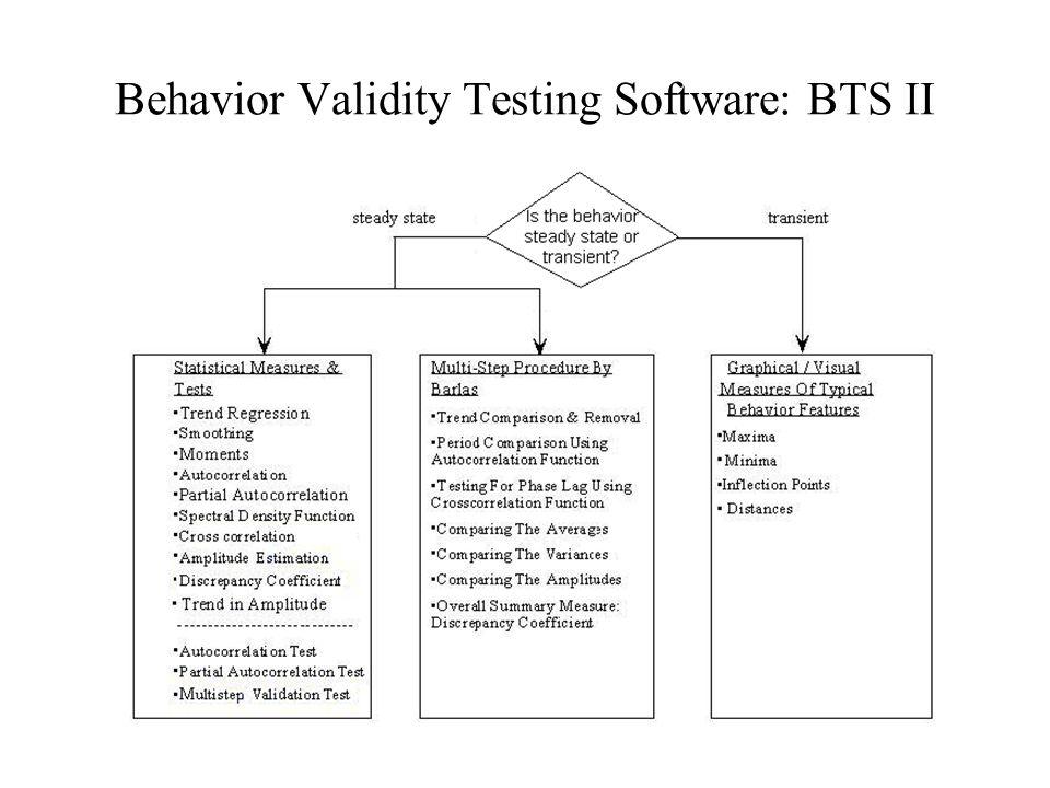Behavior Validity Testing Software: BTS II