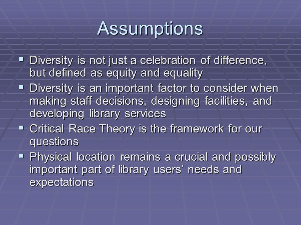 Discussion  Library as Place matters, e.g.